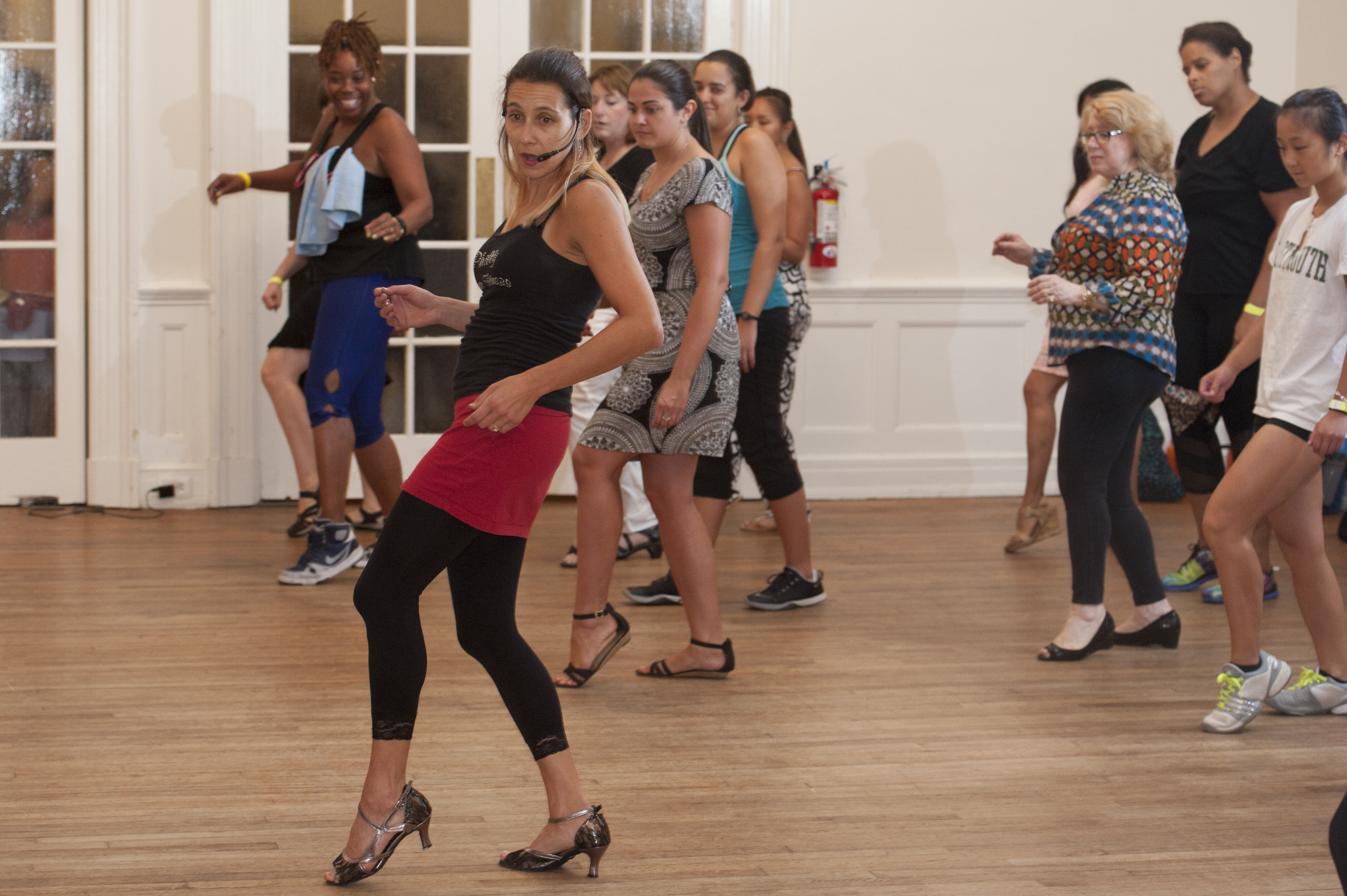 Deborah teaches a Philly Dance Day class.