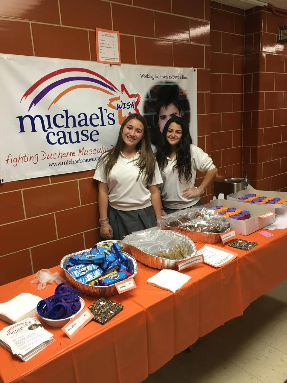 Local school fundraiser for Michael's cause.