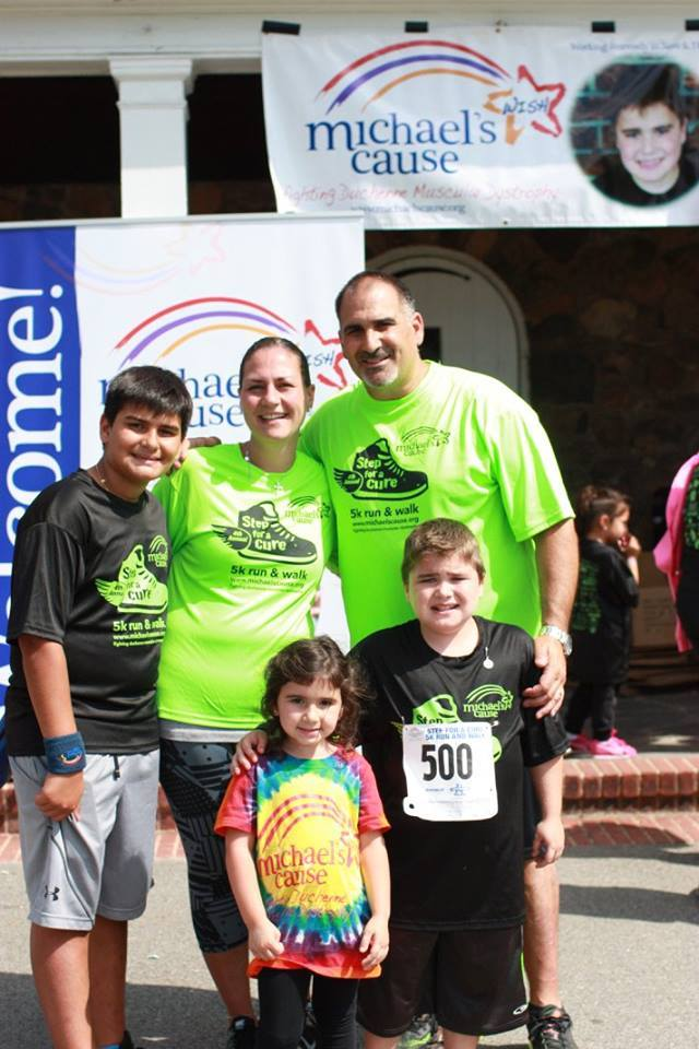 The Capolongo family at the 4th annual Step for a Cure 5K.
