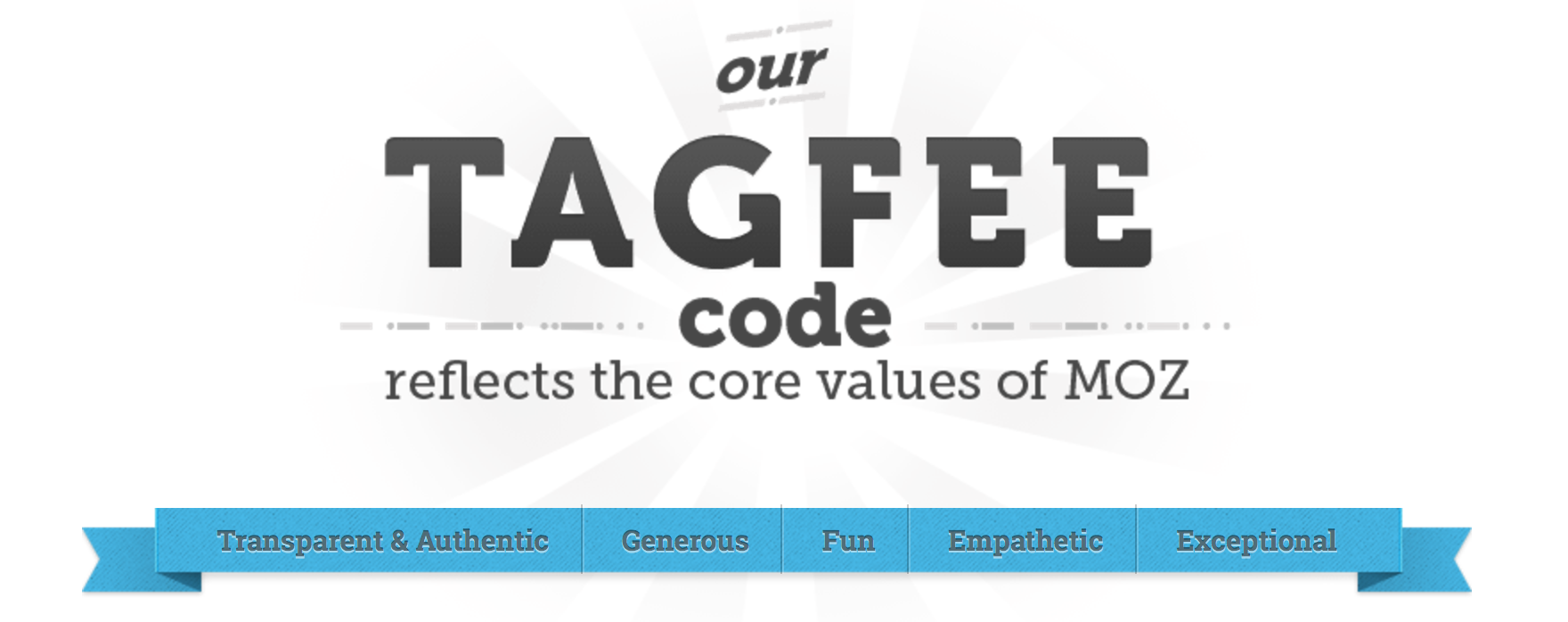 Moz's TAGFEE code begins with Transparency as a core value.