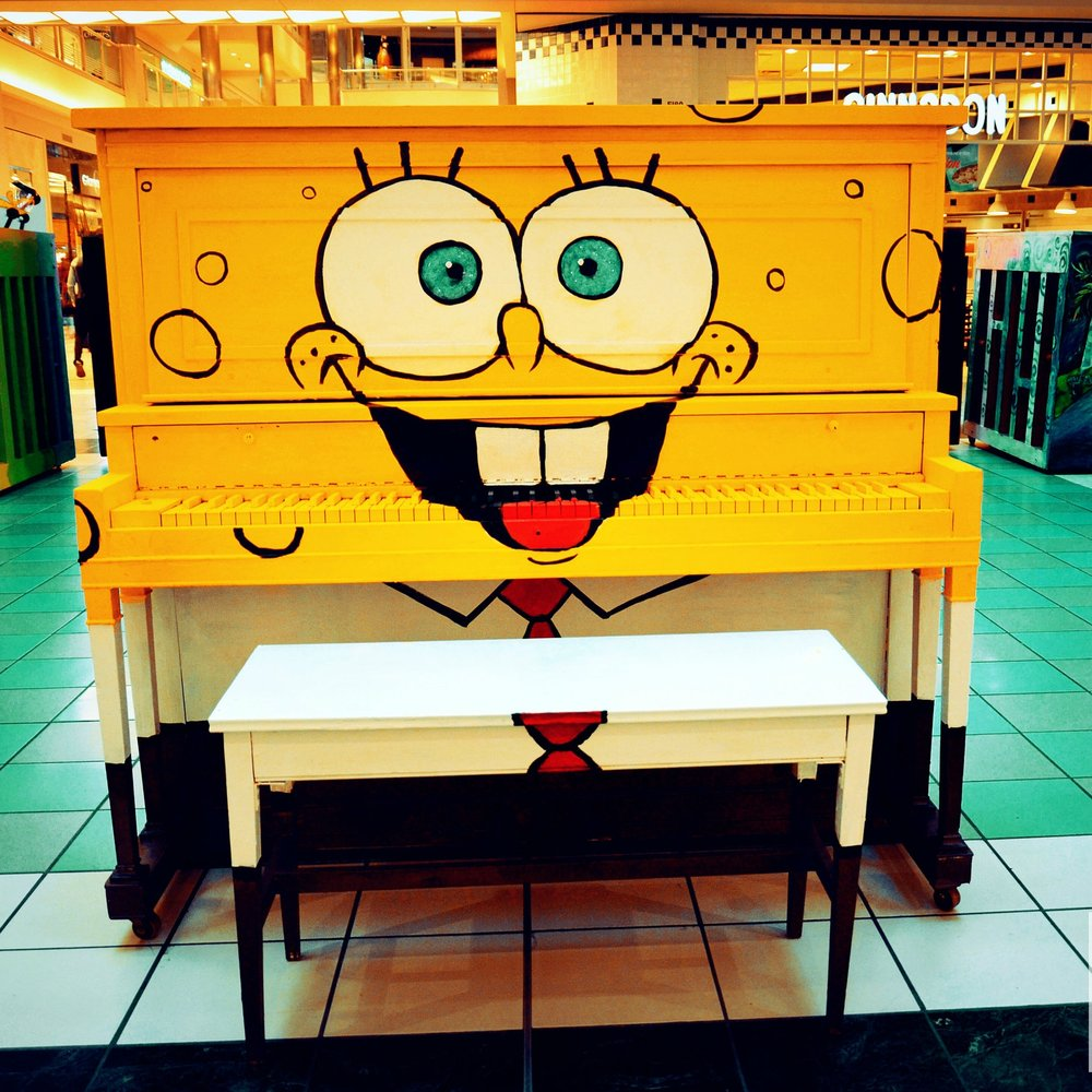 A Piano on Parade in the Mall of America